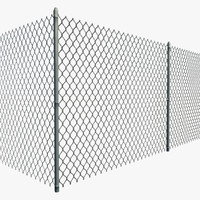 3d resolution chain link fence model