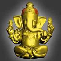 ganesh ganapati worshipped 3d max