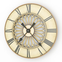 3d model analog decorative wall clock