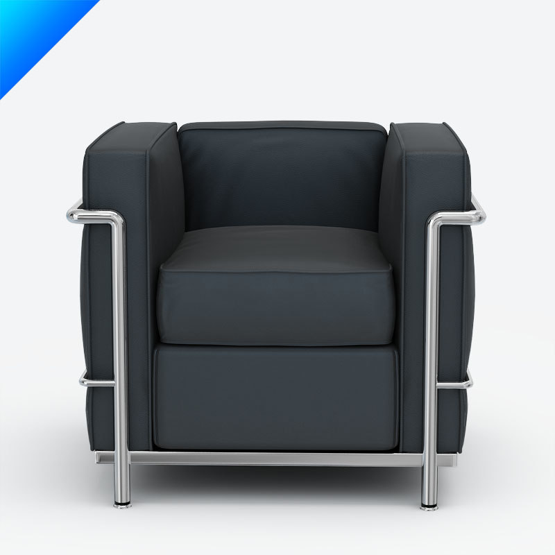 3ds max le corbusier lc2 armchair. Black Bedroom Furniture Sets. Home Design Ideas