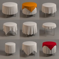 round table+ tableclothes