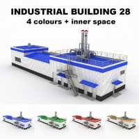 medium industrial building 28 3d 3ds