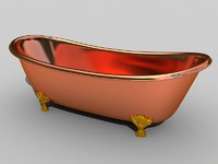 Rustic copper bath