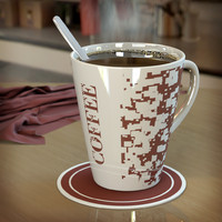 3d model of cup coffee mugs