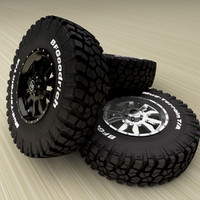 BFGoodrich  Mud Terrain T/A  KM2 and  Hard Alloys Keyhole