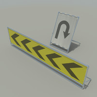 sign board set 3d obj