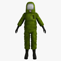 Hazmat Suit (rigged)