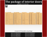 3ds max package classic interior doors