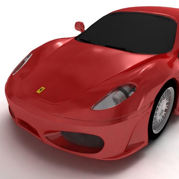 Cenário 3d Ferrari F430 Modelo 3d: 3d Ferrari F430 Convertible Sports Car