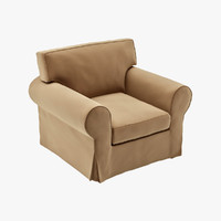 3d 3ds ektorp armchair chair