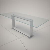 3ds max cattelan italia monaco glass table