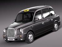 london taxi sedan 3d model