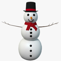 cartoon style snowman 3d 3ds