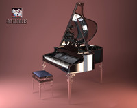 visionnaire piano 3d model
