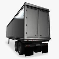 trailer vehicle 3d model