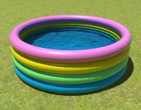 kiddie pool kid 3d model