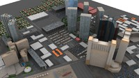 downtown las vegas 3d model