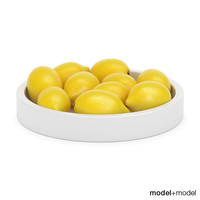 Lemons in a ceramic bowl