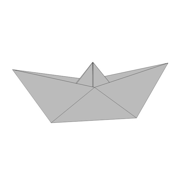 paper boat 3d model - origami ship2... by bescec