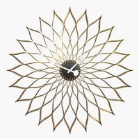 3d model sunflower clock vitra