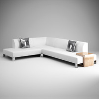 3dsmax white modern sofa 13