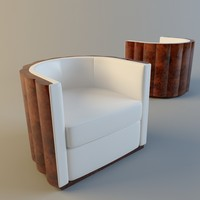3d visitor armchair art deco