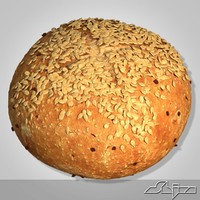 3d bread modeled model