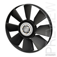engine cooling fan 3d 3ds