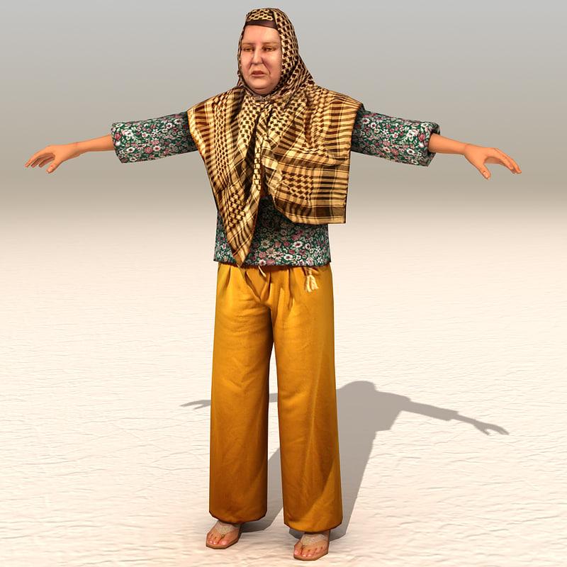 3d model arab afghani casual 09