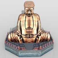 lord buddha statue 3ds