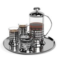 3d modern tea set