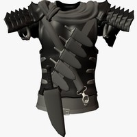 3d model armor chestplate berserk
