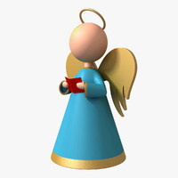 angel christmas decorations 3d obj