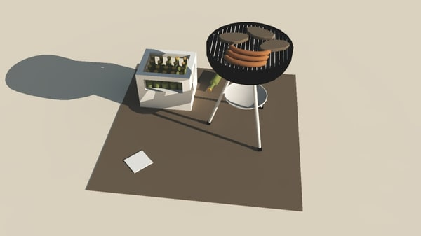 obj coloured base - BBQ Grill... by ArchaeoDesign