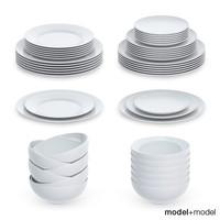 3d plates sets model