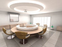 3ds max room meeting