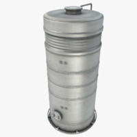 3d model chemical storage tank