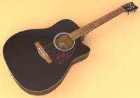 guitar instrument 3d model