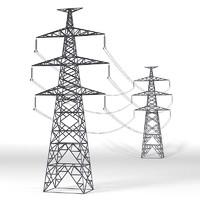 High Tesnion Power Line Tower