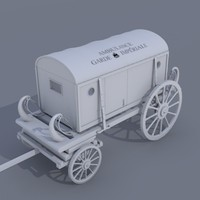 3d model 17th ambulance carriage