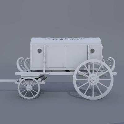 3d model 17th ambulance carriage - Ambulance Carriage... by Gacho3