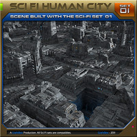 SciFi_Human City Set01