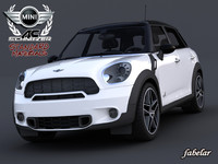 3d model mini countryman schnitzer materials car