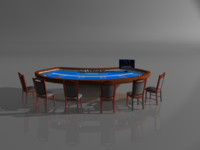 3d model casino poker table