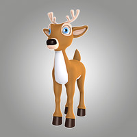 lwo cool cartoon christmas deer