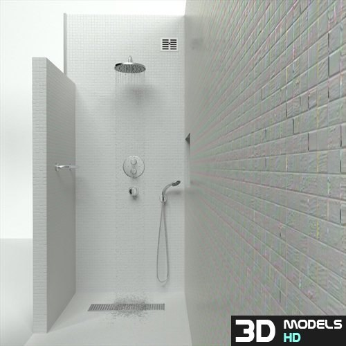 Bathroom shower 3d model for Bathroom design 3d model