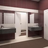 3d max public toilet