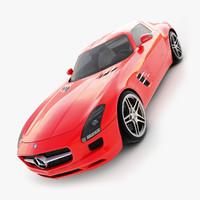 3d mercedes benz sls amg model