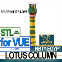 ancient egyptian column egypt 3d model