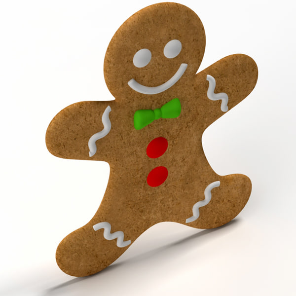 3ds max gingerbread ginger bread - Gingerbread 01... by BARAKA
